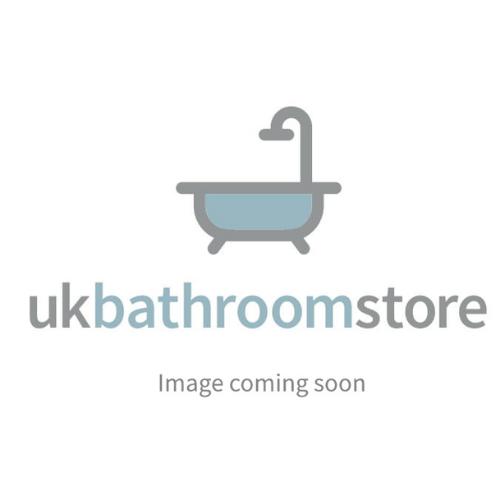 Carron Volente 2 Part Hinged Shower Screen, 1550 x 1456mm - Silver 58.706