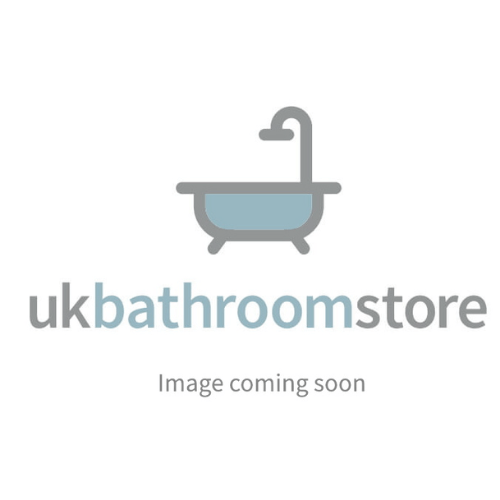 Simpsons Edge EQSSC12X8 Silver Clear Glass Quadrant Single Door