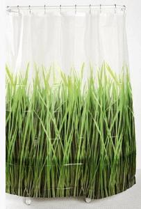 Grass green shower curtain